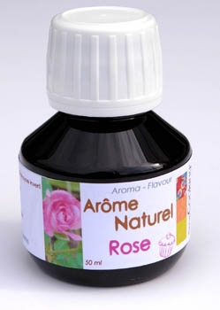 Arôme alimentaire naturel rose