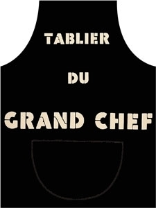 tablier de cuisine le grand chef. Black Bedroom Furniture Sets. Home Design Ideas
