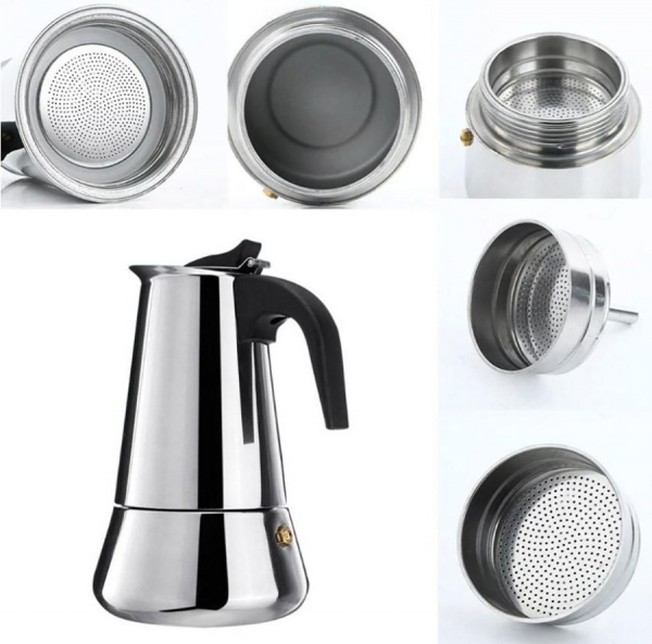 Cafetière italienne inox induction