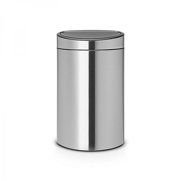 poubelle brabantia touch bin 40 l poubelle de cuisine cuisin 39 store. Black Bedroom Furniture Sets. Home Design Ideas