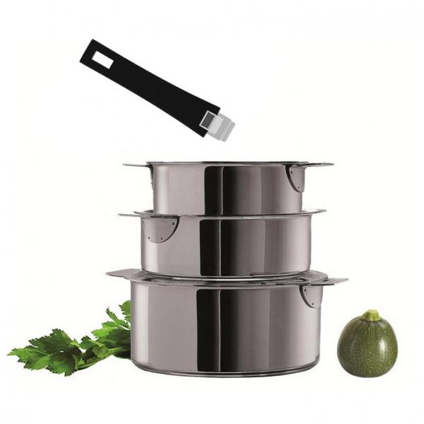 Casserole cristel mutine amovible casserole inox cuisin 39 store - Casserole inox 18 10 manche amovible ...