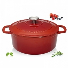 Cocotte fonte Chasseur ronde