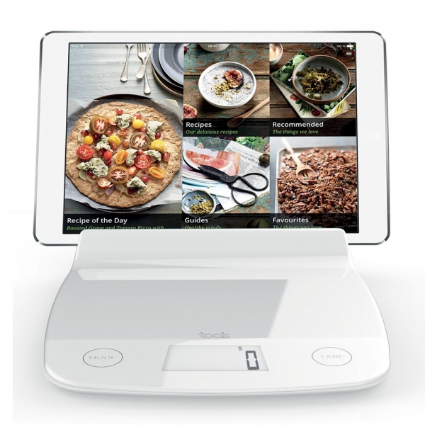 Balance de cuisine avec support tablette aubecq cuisin 39 store for Tablette cuisine