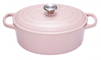 cocotte le creuset ovale chiffon pink cocotte fonte cuisin 39 store. Black Bedroom Furniture Sets. Home Design Ideas