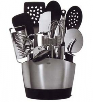 Pot ustensiles ovale inox oxo tout port e de main for Pot ustensiles cuisine