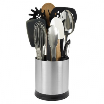 Pot ustensiles inox tournant oxo rangement ustensiles cuisin 39 store - Pot pour ustensile de cuisine ...