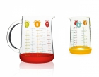 Lot 2 verres mesureurs 1 litre et 500 ml Pebbly 109