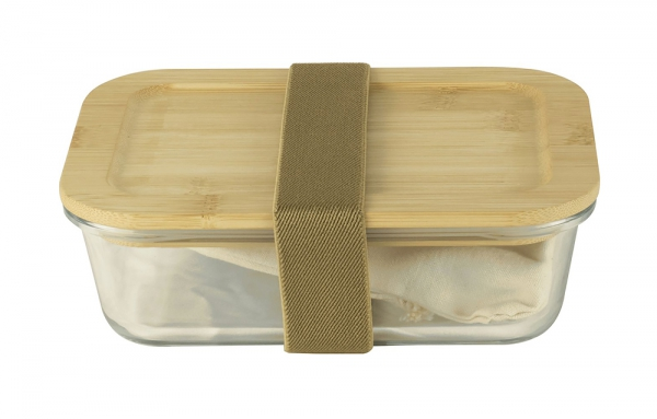 Lunch Box Nomade Bambou & Verre Pebbly