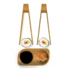 Set 2 Mini Pinces Sushi + Coupelle Pebbly